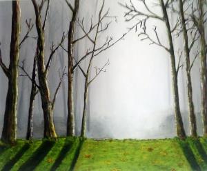 Misty Wood, 60 x 50, acryilic