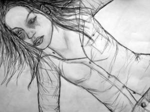 Loen, potlood tekening