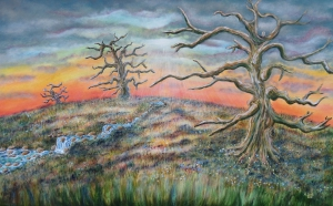 Mystic Sunset 160 x 100, acrylic