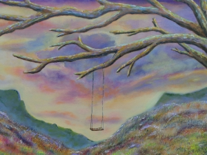 close-up 'Deserted Land', acrylic