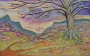 Deserted Land, 160 x 100, acrylic